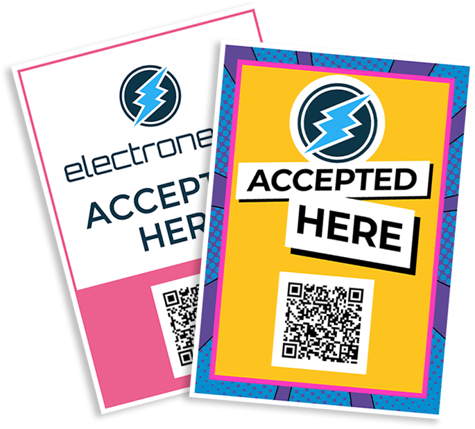 Electroneum Accepted Here Signs PDF Generator